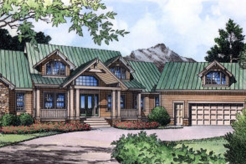 Traditional Exterior - Front Elevation Plan #417-411 - Houseplans.com