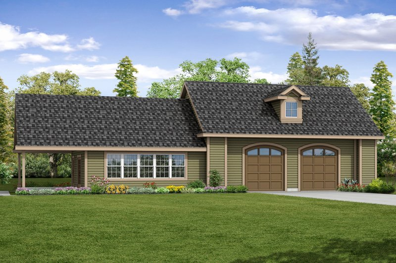 House Plan Design - Country Exterior - Front Elevation Plan #124-1068