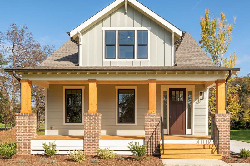 House Plan Design - Craftsman Exterior - Front Elevation Plan #461-75