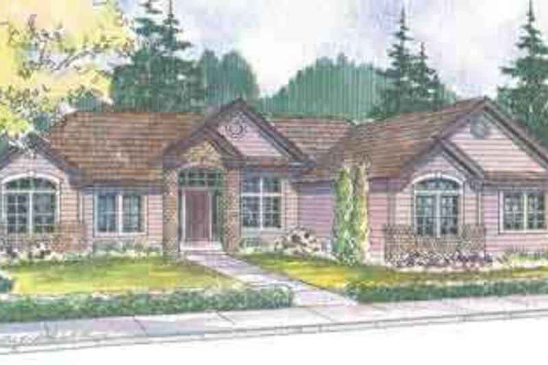 Craftsman Exterior - Front Elevation Plan #124-491