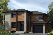 Modern Style House Plan - 3 Beds 1.5 Baths 1561 Sq/Ft Plan #138-367 Exterior - Front Elevation