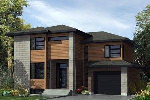 Modern Exterior - Front Elevation Plan #138-367