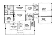 Country Style House Plan - 4 Beds 3.5 Baths 3000 Sq/Ft Plan #21-269 Floor Plan - Main Floor