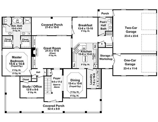 Country Floor Plan - Main Floor Plan Plan #21-269