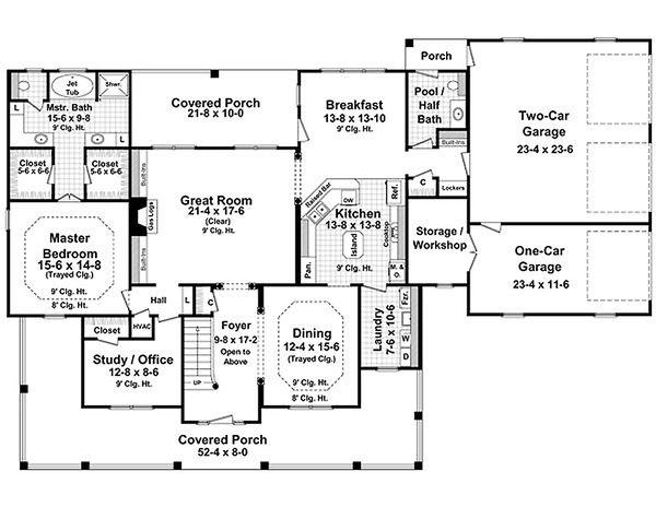 Country Floor Plan - Main Floor Plan Plan #21-269
