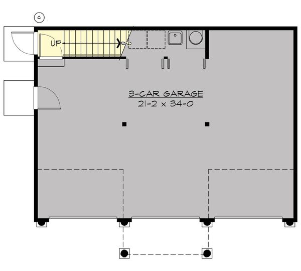 Dream House Plan - Cottage Floor Plan - Main Floor Plan #132-189