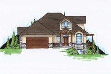 House Plan Design - European Exterior - Front Elevation Plan #5-370