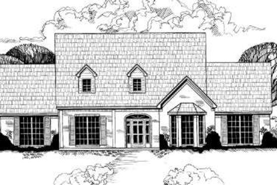 Traditional Exterior - Front Elevation Plan #317-109