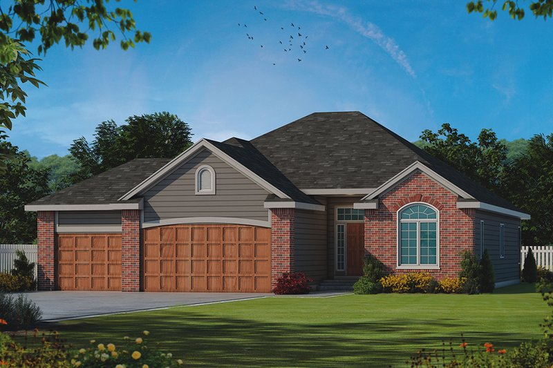 Architectural House Design - Ranch Exterior - Front Elevation Plan #20-2255