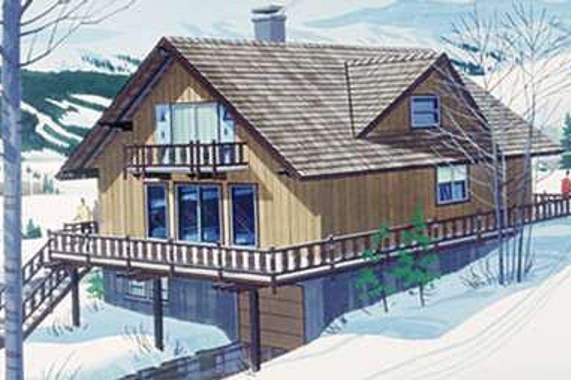 Cottage Exterior - Front Elevation Plan #320-412
