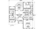 Craftsman Style House Plan - 3 Beds 2 Baths 1800 Sq/Ft Plan #56-633 Floor Plan - Main Floor Plan