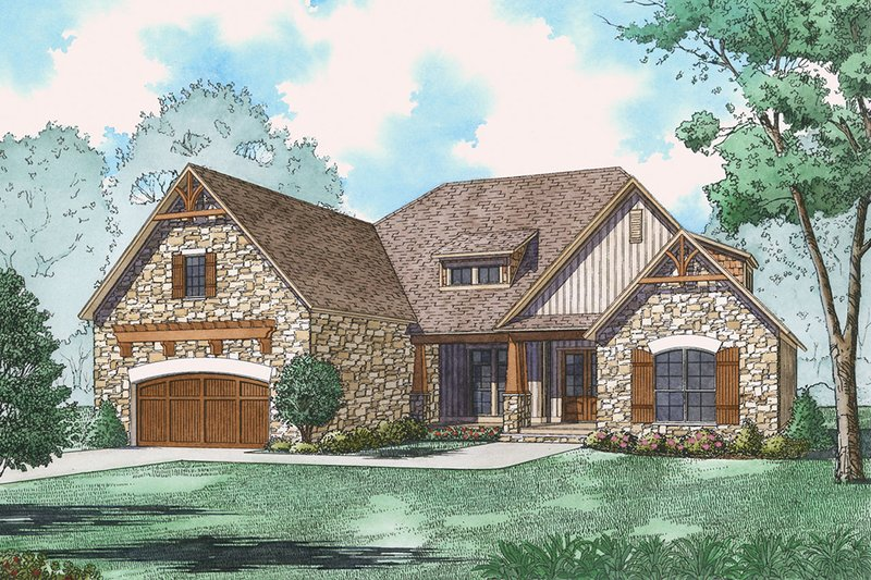 Ranch Exterior - Front Elevation Plan #923-89