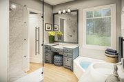 Country Style House Plan - 3 Beds 2 Baths 1936 Sq/Ft Plan #406-9659 Interior - Master Bathroom