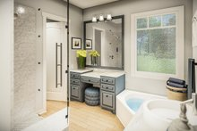 Architectural House Design - Country Interior - Master Bathroom Plan #406-9659