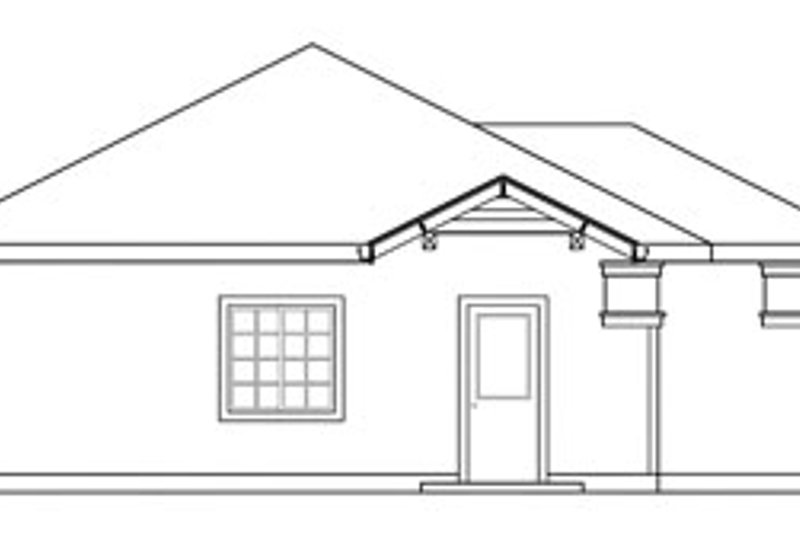 Traditional Exterior - Other Elevation Plan #124-638 - Houseplans.com