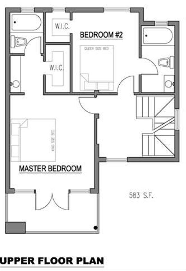 Modern Floor Plan - Upper Floor Plan Plan #512-2