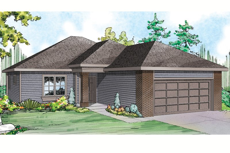 House Plan Design - Traditional Exterior - Front Elevation Plan #124-914
