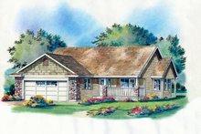 Craftsman Exterior - Front Elevation Plan #18-1025