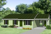 Ranch Style House Plan - 3 Beds 2 Baths 1108 Sq/Ft Plan #116-167