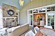Craftsman Style House Plan - 4 Beds 5.5 Baths 3878 Sq/Ft Plan #927-5 Exterior - Outdoor Living