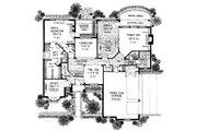 European Style House Plan - 4 Beds 2.5 Baths 3448 Sq/Ft Plan #310-939 Floor Plan - Main Floor