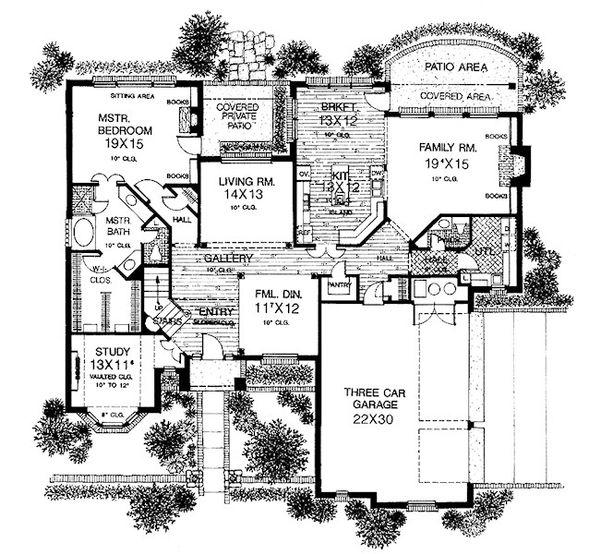 European Floor Plan - Main Floor Plan #310-939