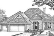Traditional Style House Plan - 3 Beds 2.5 Baths 2168 Sq/Ft Plan #310-408 Exterior - Front Elevation