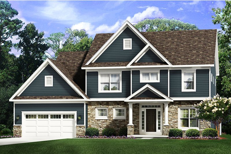 Traditional Style House Plan - 4 Beds 2.5 Baths 2533 Sq/Ft Plan #1010-245 Exterior - Front Elevation