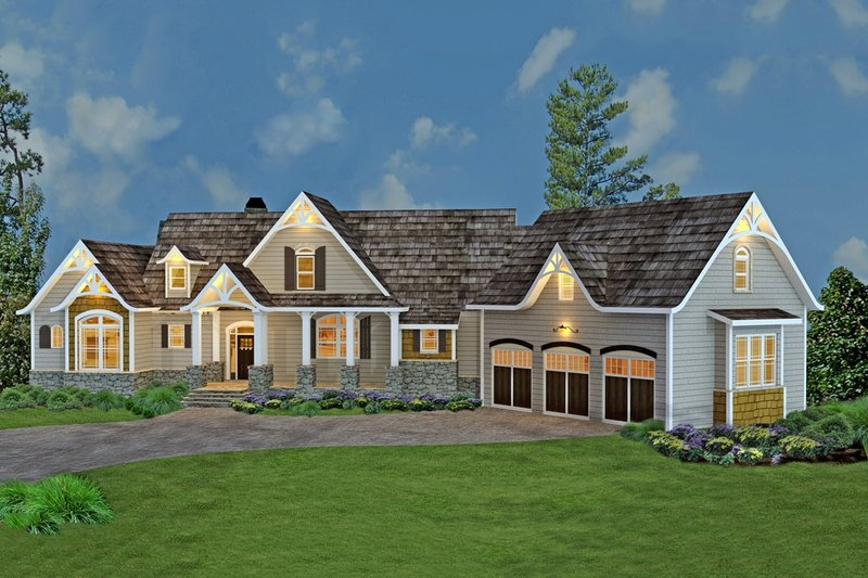 Craftsman Exterior - Front Elevation Plan #119-367 - Houseplans.com