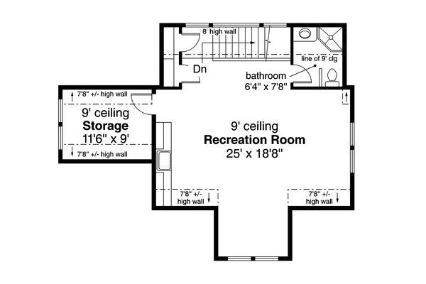 Craftsman Floor Plan - Upper Floor Plan Plan #124-932