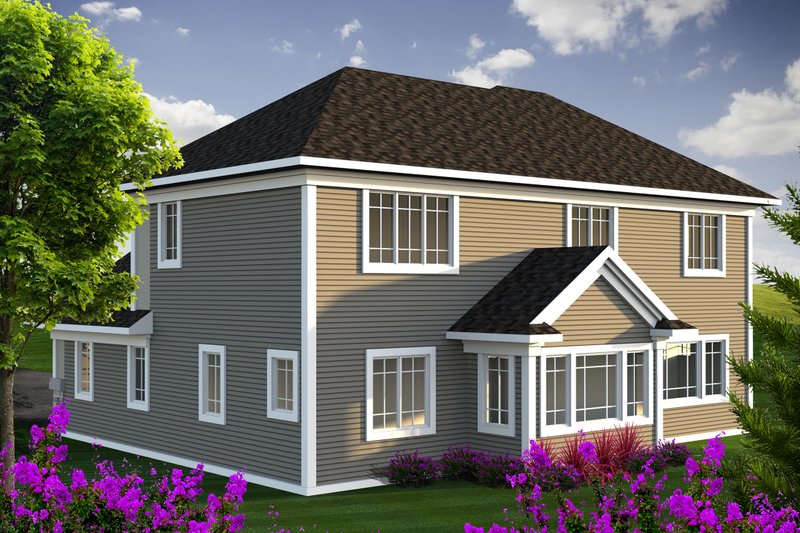 European Exterior - Rear Elevation Plan #70-1171 - Houseplans.com