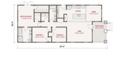 Craftsman Style House Plan - 3 Beds 2 Baths 1428 Sq/Ft Plan #461-55 Floor Plan - Main Floor Plan