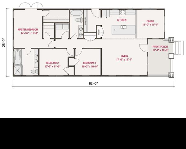Craftsman Floor Plan - Main Floor Plan Plan #461-55