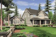 Country Style House Plan - 4 Beds 4.5 Baths 4790 Sq/Ft Plan #48-237 Exterior - Front Elevation