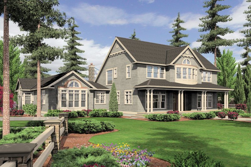 Country Exterior - Front Elevation Plan #48-237 - Houseplans.com