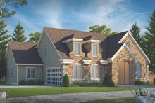 House Plan Design - European Exterior - Front Elevation Plan #20-2283