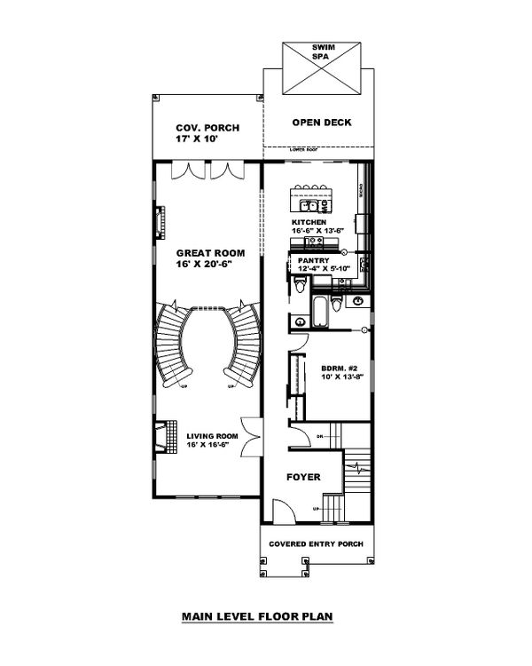 Traditional Floor Plan - Main Floor Plan #117-912