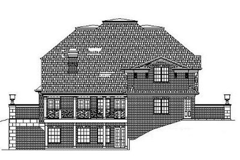 Classical Exterior - Rear Elevation Plan #119-253 - Houseplans.com