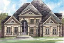 European Exterior - Front Elevation Plan #119-237