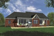 Country Style House Plan - 3 Beds 3 Baths 2100 Sq/Ft Plan #21-105 Exterior - Rear Elevation