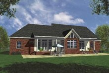 Home Plan - Country Exterior - Rear Elevation Plan #21-105