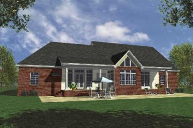 Country Exterior - Rear Elevation Plan #21-105 - Houseplans.com