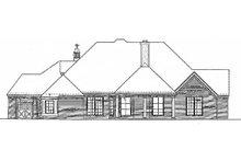 House Plan Design - European Exterior - Rear Elevation Plan #310-262