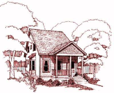 Cottage Style House Plan - 3 Beds 2 Baths 1340 Sq/Ft Plan #79-175 Exterior - Front Elevation