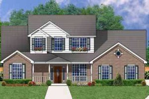 Traditional Exterior - Front Elevation Plan #62-142