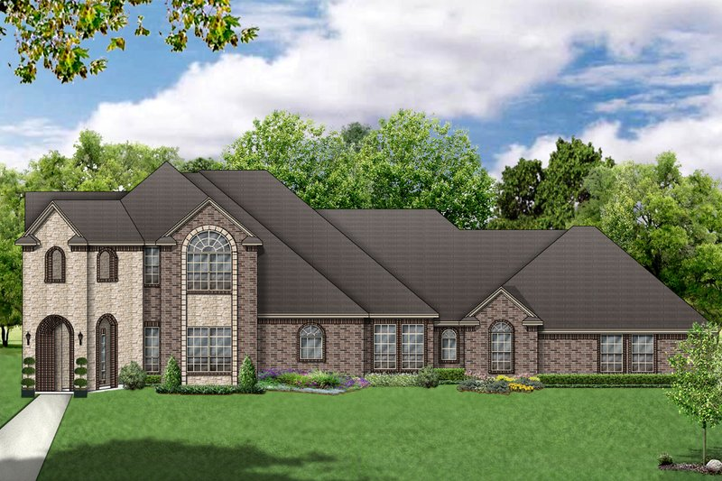 Dream House Plan - European Exterior - Front Elevation Plan #84-409