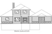 Modern Style House Plan - 3 Beds 3.5 Baths 2428 Sq/Ft Plan #117-384 Exterior - Rear Elevation