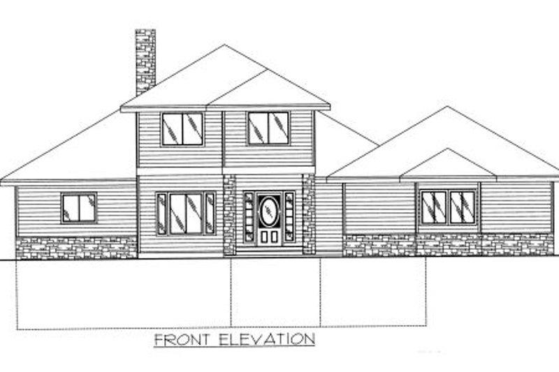 Modern Exterior - Rear Elevation Plan #117-384 - Houseplans.com