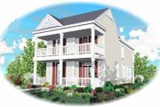Southern Style House Plan - 3 Beds 2.5 Baths 1855 Sq/Ft Plan #81-117 Exterior - Front Elevation