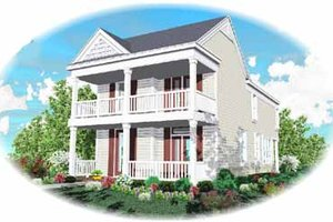 Southern Exterior - Front Elevation Plan #81-117